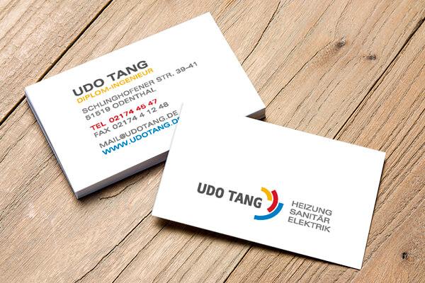 Geschäftskarten Udo Tang / Gestaltung DESIGN B3