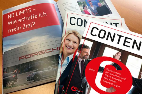 Gestaltung von Magazinen und Broschüren in Leverkusen, BVMW Content Magazin von DESIGN B3