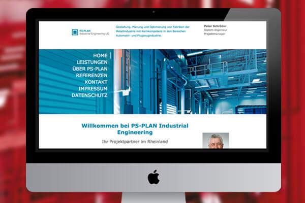 Webdesign PS-Plan von Design B3 Werbeagentur Leverkusen