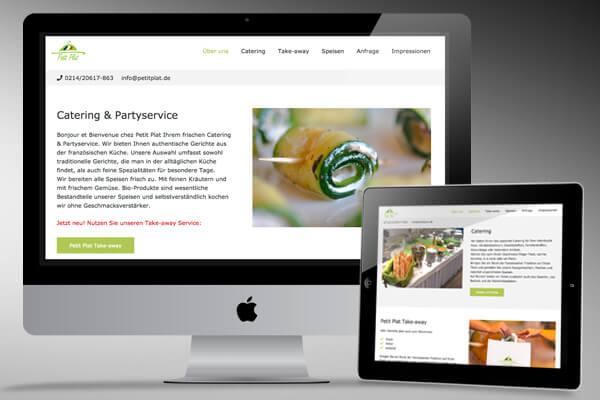 Webdesign Petit Plat von Design B3 Werbeagentur Leverkusen