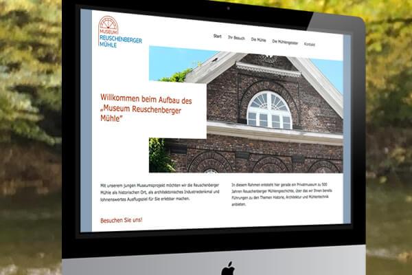 Webdesign Reuschenberger Mühlenmuseum von Design B3 Werbeagentur Leverkusen