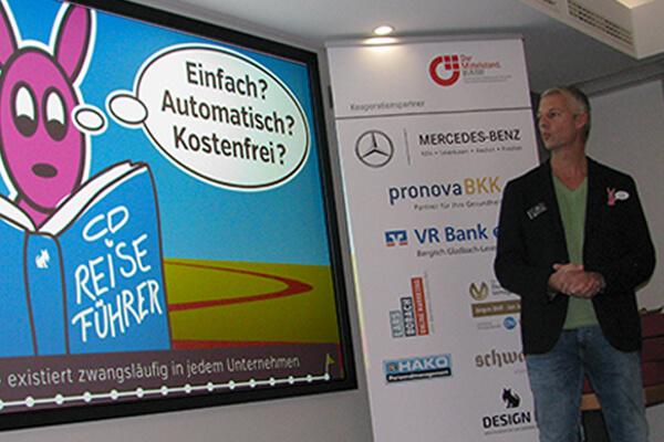 Pecha Cucha Vortrag zum Thema Corporate Design von DESIGN B3 Werbeagentur Leverkusen